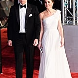 February: Kate got all dolled up as she attended the BAFTAs with William.