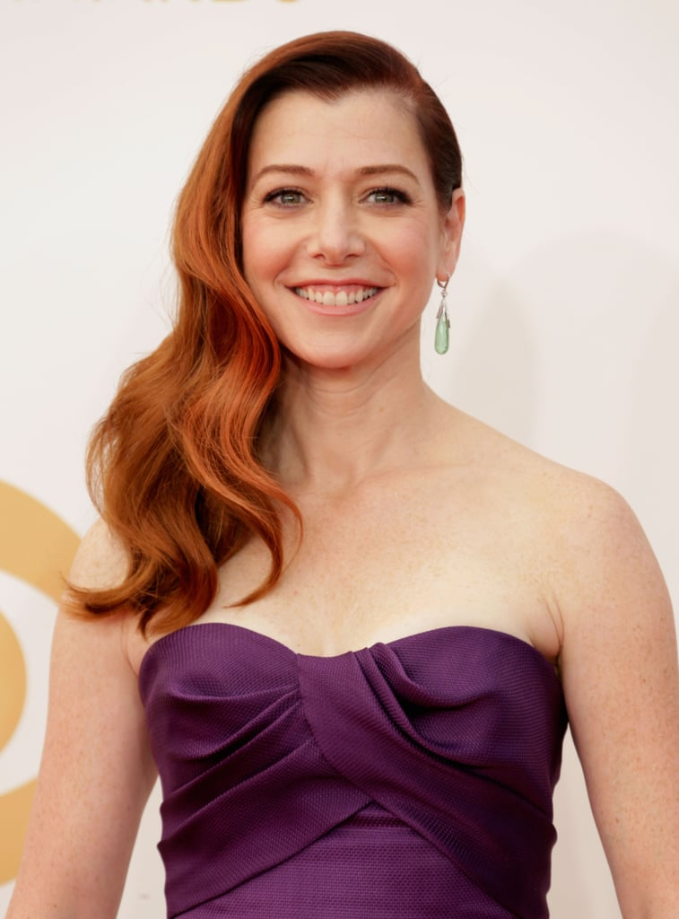 Side-swept waves were the biggest trend to come out of award season last year, and perhaps Alyson Hannigan is bringing them back for another round.