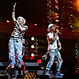 Gwen Stefani and Pharrell Williams rocked out at Z100's Jingle Ball concert in NYC on Friday.