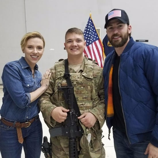 Chris Evans's USO Tour Photos