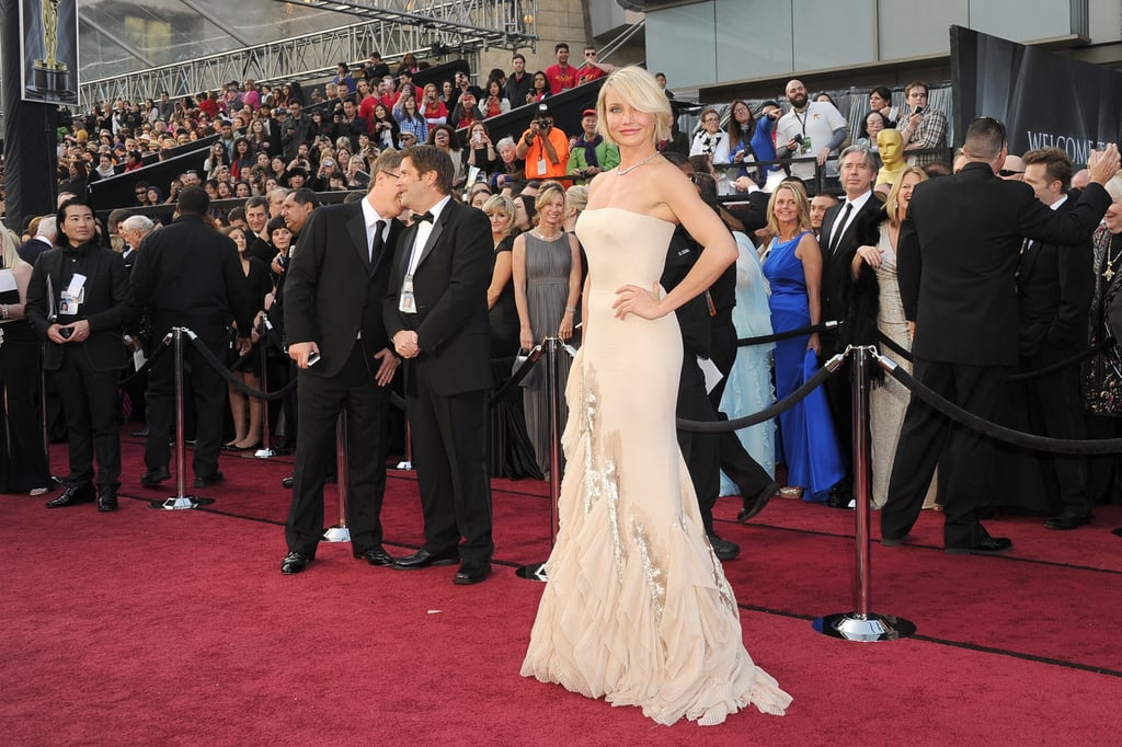 Cameron Diaz on the Oscars red carpet.