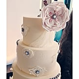 Loving the lace detail on the Beyond Buttercream cake at Unveiled.