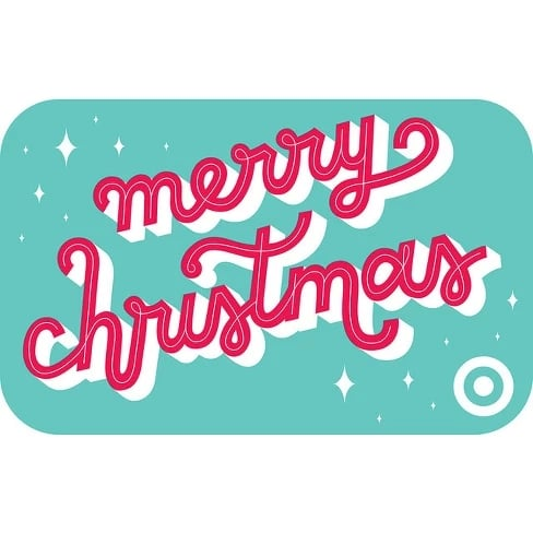 Merry Christmas In Cursive.Cursive Merry Christmas Gift Card Target Is Discounting