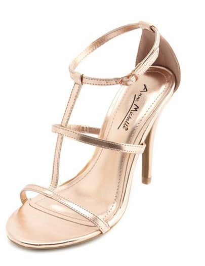 Charlotte Russe's caged metallic sandals ($29) are affordable and aesthetically pleasing.