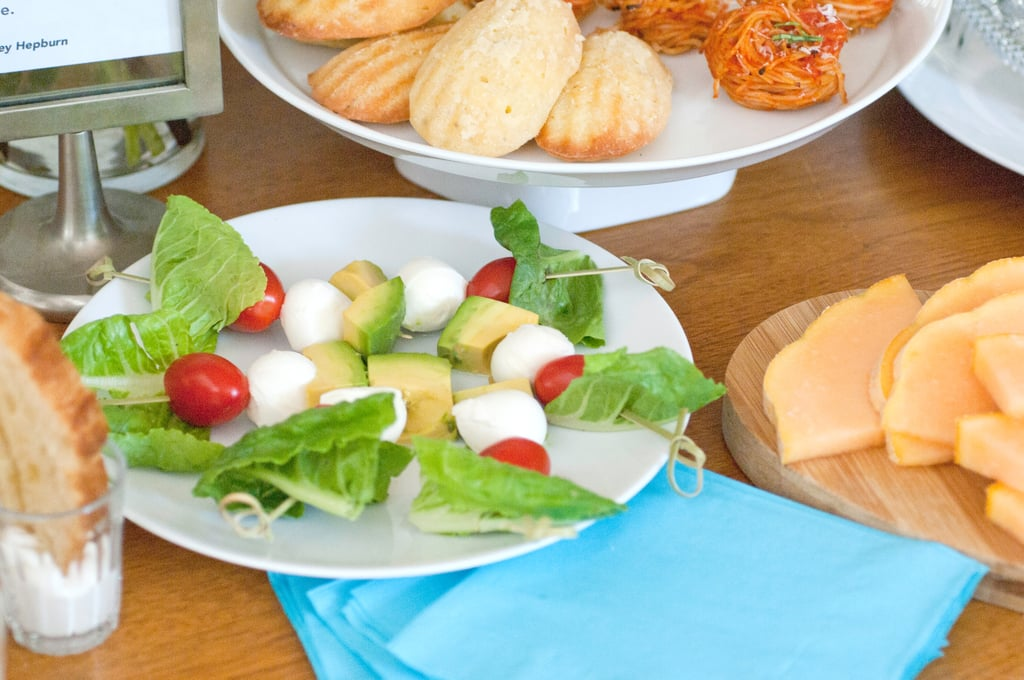 Simple Caprese Salad and Tuscan Melon