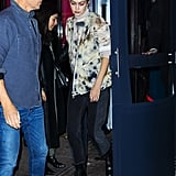 Gigi Hadid Wearing a Tie-Dye Top For Dinner in NYC