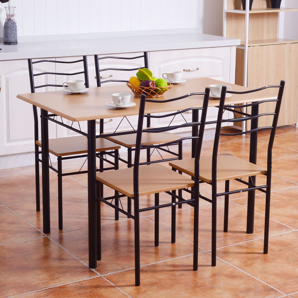For an Industrial Touch: Costway 5 Piece Dining Table Set
