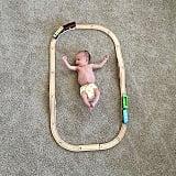 Baby vs. train set.