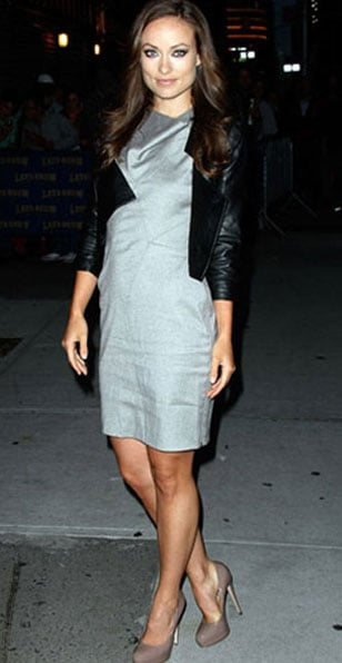 Olivia Wilde donned these nude Brian Atwood pumps for her appearance on The Late Show Wtih David Letterman in March.