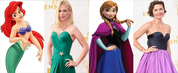 Disney Princess Dresses at Emmys 2015