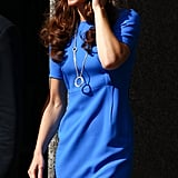 Kate Middleton with her new Cartier necklace.