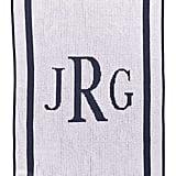 Classic Monogrammed Stroller Blanket
