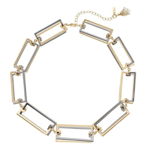 "Simply Vera Vera Wang 18"" Two Tone Rectangle Collar Necklace"