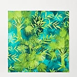 Versace Green Printed Silk-Twill Scarf