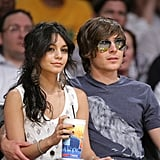Zac and Vanessa at the Lakers