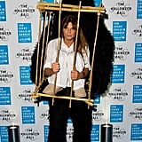 Jemima Khan definitely won for originality at the 2014 UNICEF Halloween ball.