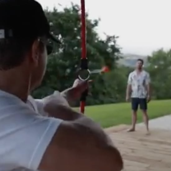 Matt Damon Shooting Arrow at Chris Hemsworth Instagram Video