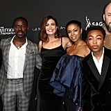 Asante Blackk and the This Is Us Cast at an Emmys Party