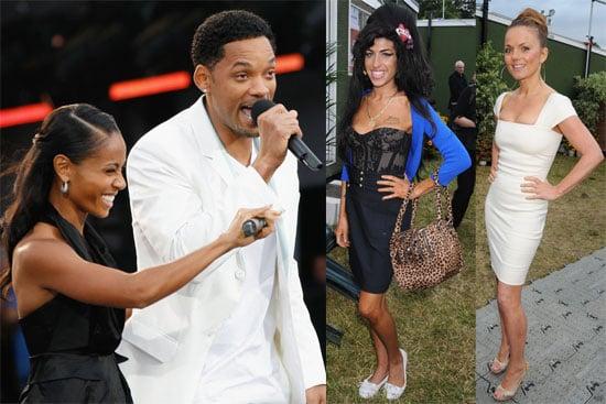 Photos of Will Smith, Jada Pinkett, Geri Halliwell, Amy Winehouse at Nelson Mandela's Birthday Concert