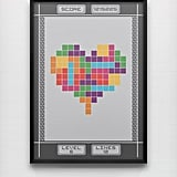 This wall print ($46) based on the original Game Boy version of Tetris will passionately show off your love for the game.