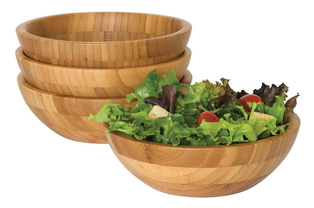 Bamboo Salad Bowls ($42 for set of 4)