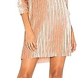 MinkPink Pleated Velvet Dress