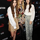 The Haim ladies — Alana, Este, and Danielle — attended the Roc Nation and Three Six Zero brunch.