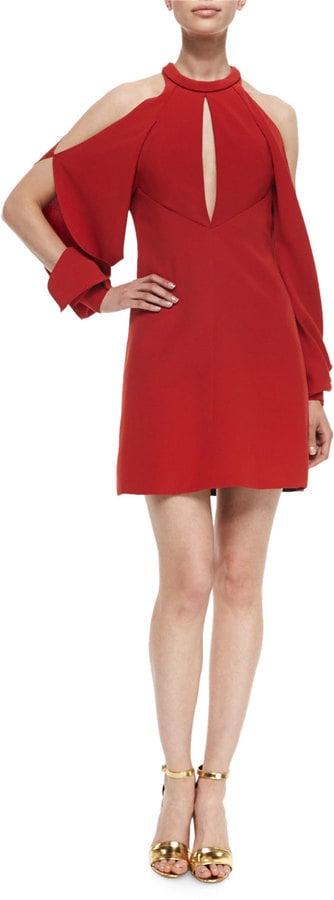 J. Mendel Keyhole Cold-Shoulder Cocktail Dress ($1,990)