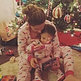 """Earlier with my sweet girl! Hope everyone had a wonderful Christmas, night night"""