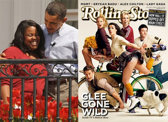 Photos of Glee Cast on Rolling Stone Cover and at White House Egg Roll
