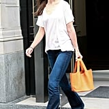 Katie Holmes Breezes Her Way Through a Business Meeting