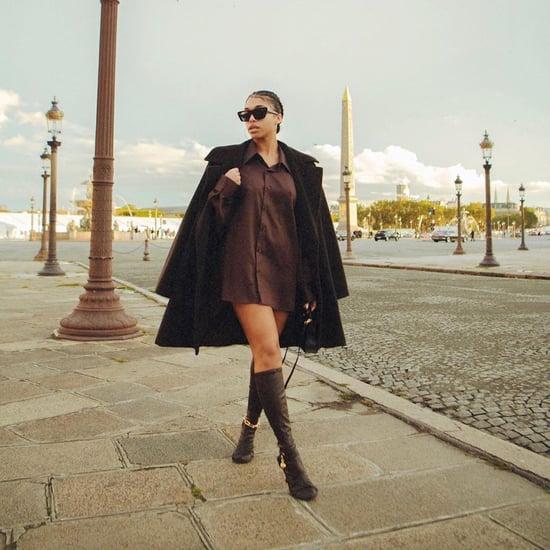Lori Harvey Wears Michael B. Jordan's Button-Down in Paris