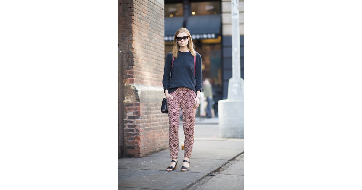 Update Your Staple Summer Knit With A Great Pair Of Printed Trousers Summer Street Style 2013