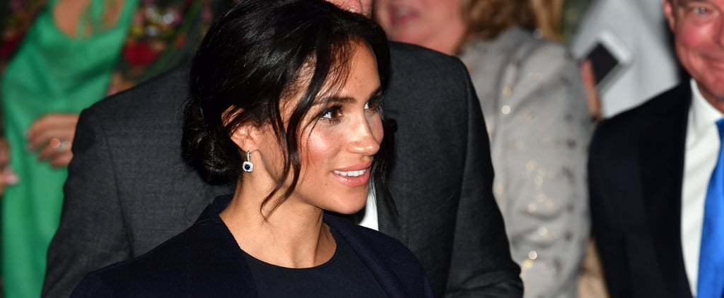 Meghan Markle Wears Stella McCartney Cape Dress October 2018