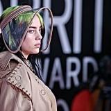 Billie Eilish Wears Custom Burberry at the 2020 BRIT Awards