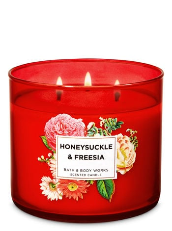 Bath & Body Works Honeysuckle & Freesia 3-Wick Candle