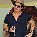 Johnny Depp came out in support of artists in LA.