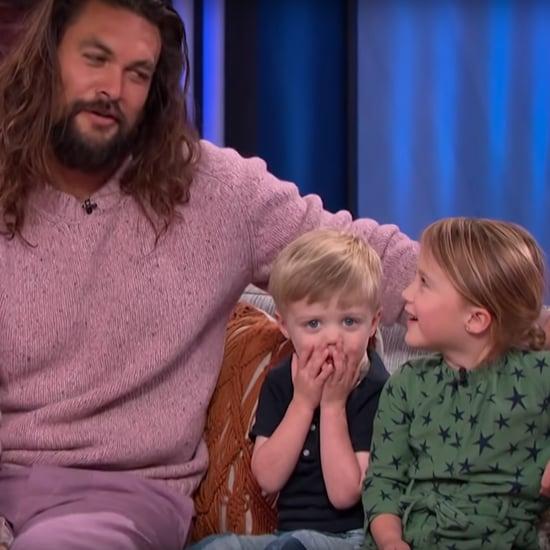 Watch Kelly Clarkson's Kids Ask Jason Momoa About Aquaman