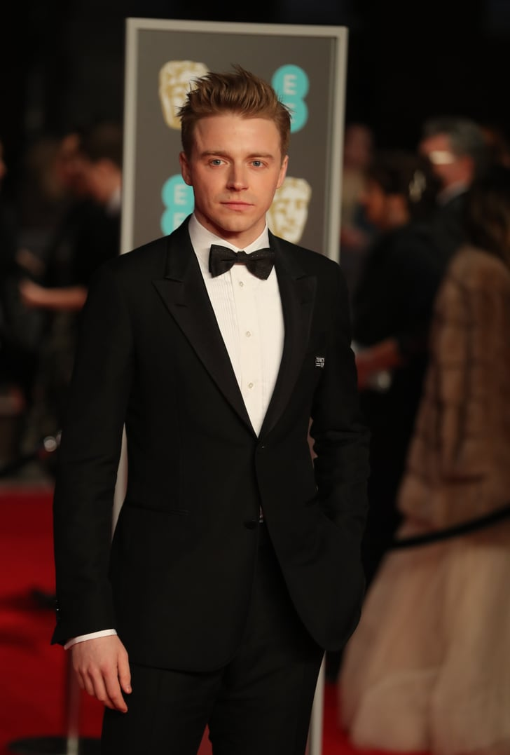 Jack Lowden Time S Up Pin At The 2018 Bafta Awards
