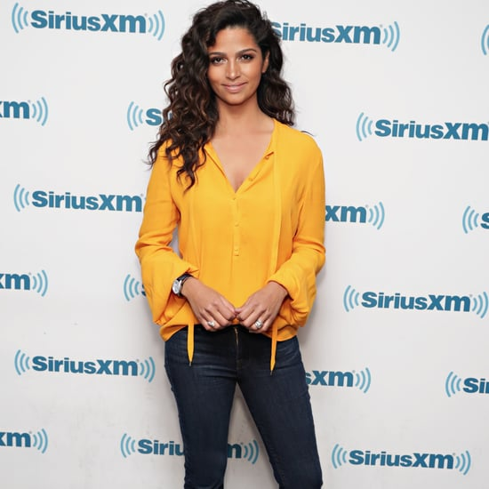 Camila Alves's Yellow Fall Blouse November 2016