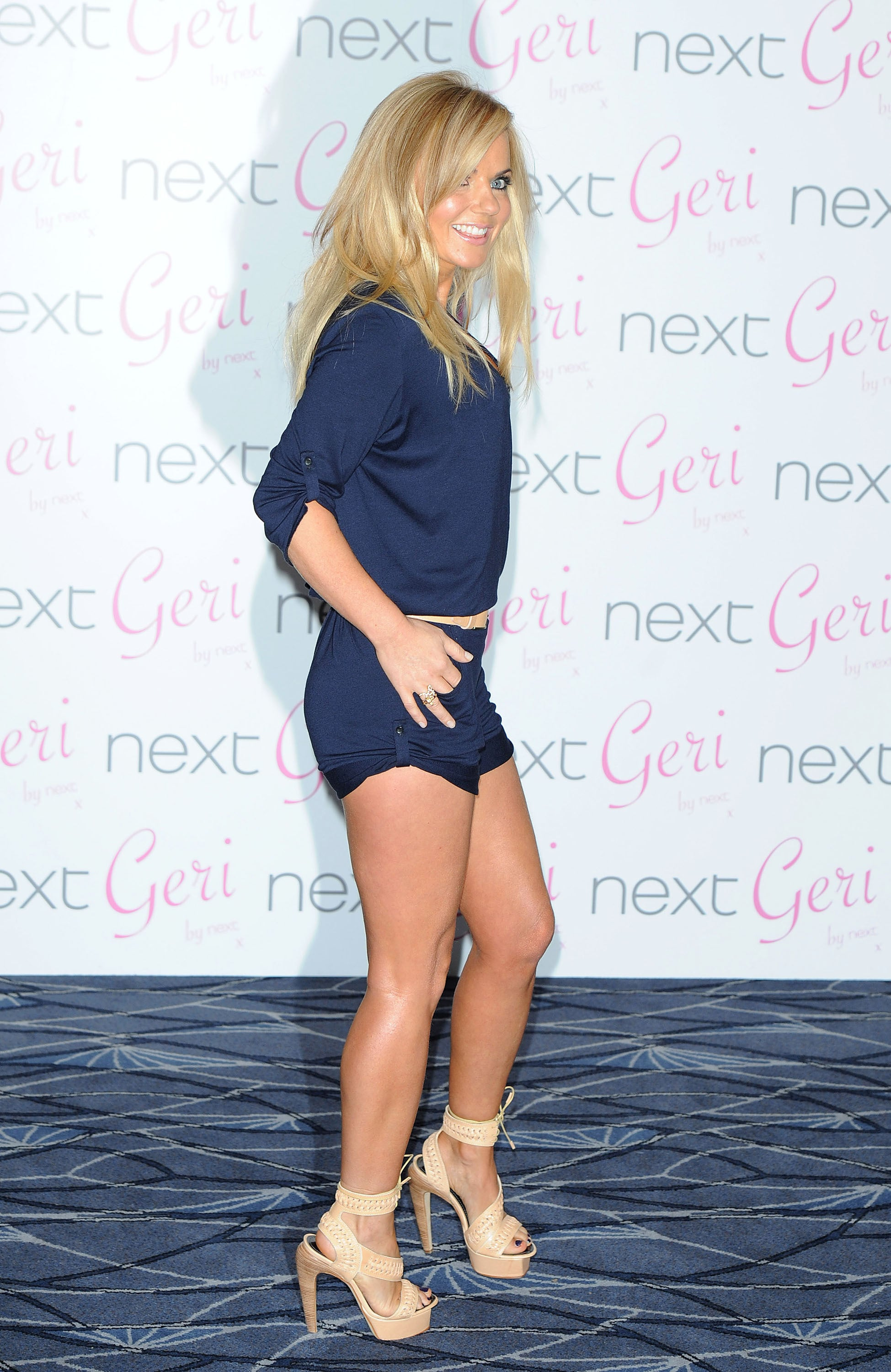 Photos Of Geri Halliwell Launching Her Swimwear Collection