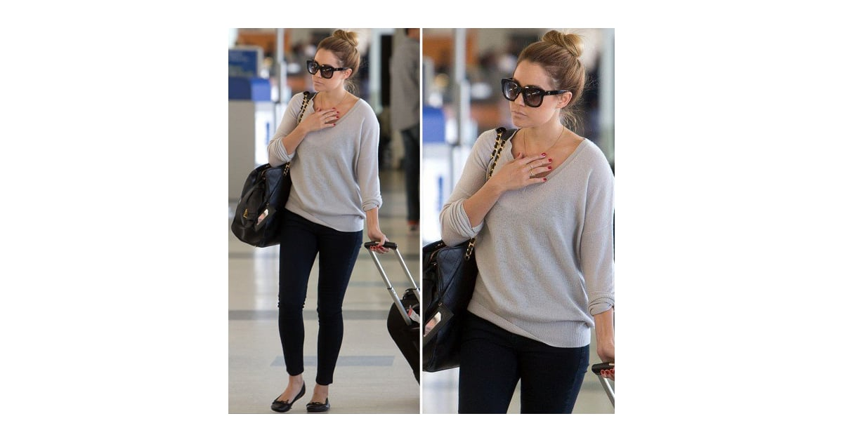 Lauren Conrad Wearing Black Skinny Jeans
