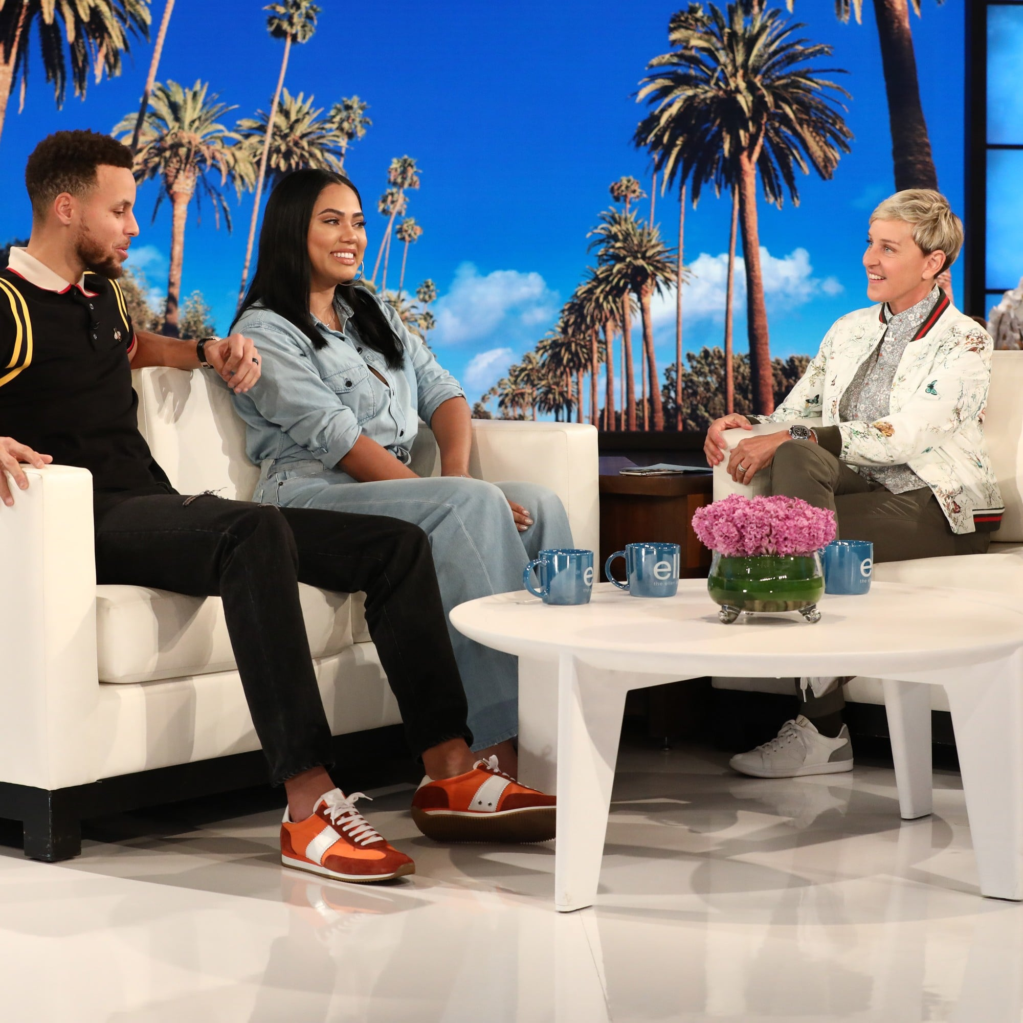 7a9b45408272 Stephen Curry and Ayesha Curry on Ellen Show February 2018