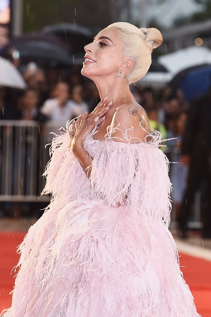 Lady Gaga Pink Valentino Dress at Venice Film Festival ...