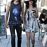 Pictures of Katy Perry and Russell Brand