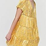 UO Picnic Chiffon Tiered Mini Dress