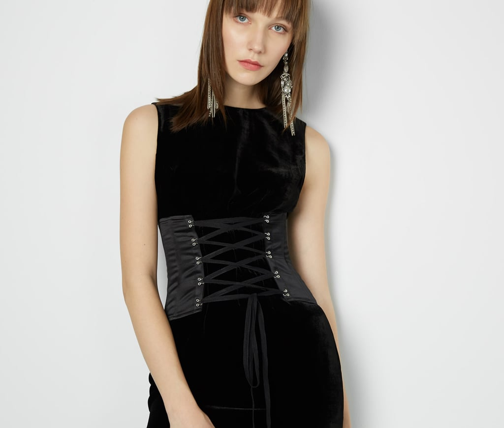 """""""Fame and Partners is good for any occasion dress you can imagine, but with the brand's Inside Out collection, it introduces wearable accessories like the Black Jojo Corset ($159), which looks just as appropriate with an oversize graphic tee as it does a velvet holiday dress."""" — SW"""