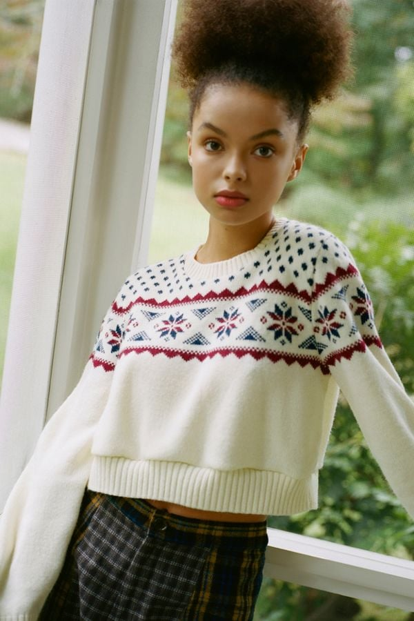 Urban Renewal Remade Fair Isle Cropped Sweater