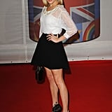 TV host Fearne Cotton rocked a mini.