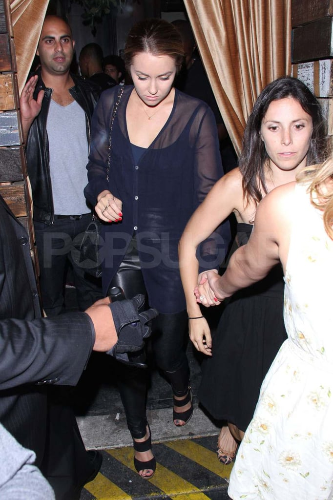 Lauren Conrad left the Beverly nightclub in LA.